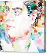 Lord Byron - Watercolor Portrait Canvas Print