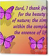Lord I Thank You for the Beauty of Nature Canvas Print