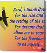 Lord I Thank You for the Freedom Canvas Print