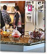 Lorna Kitchen Busy2 2009 Canvas Print