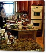 Lorna Kitchen Busy3 2009 Canvas Print