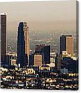 Los Angeles In Silver Light Canvas Print