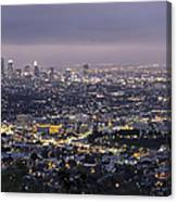 Los Angeles At Night From The Griffith Park Observatory Canvas Print