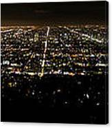 Los Angeles At Night Canvas Print