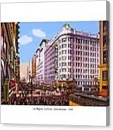 Los Angeles California - Seventh Street - 1938 Canvas Print