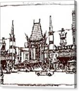 Hollywood's Chinese Theater Landmark.          Canvas Print