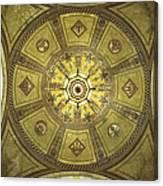 Los Angeles City Hall Rotunda Ceiling Canvas Print