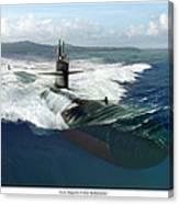 Los Angeles Class Submarine Canvas Print