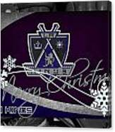 Los Angeles Kings Christmas Canvas Print