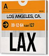 Los Angeles Luggage Poster 2 Canvas Print