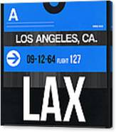 Los Angeles Luggage Poster 3 Canvas Print