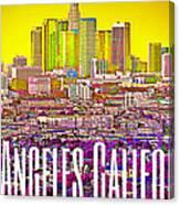 Los Angeles Postcard Canvas Print