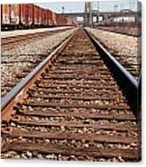 Los Angeles Railroad Tracks Canvas Print