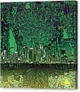 Los Angeles Skyline Abstract 6 Canvas Print