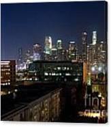 Los Angeles Skyline At Dusk Canvas Print