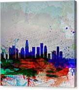 Los Angeles  Watercolor Skyline 1 Canvas Print