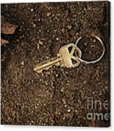 Lost And Found Key Canvas Print