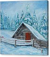 Lost Mountain Cabin Canvas Print