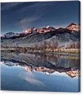Lost River Mountains Winter Reflection Canvas Print