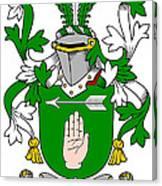 Loughnan Coat Of Arms Irish Canvas Print