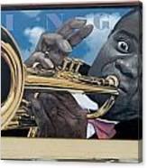 Louie Armstrong Mural In Eureka Canvas Print