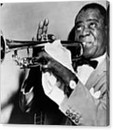 Louis Armstrong (1900-1971) Canvas Print