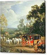 Louis Xiv In His State Coach Canvas Print