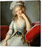 Louise-marie Adelaide, Duchesse Dorleans Oil On Canvas See Also 91622 Canvas Print