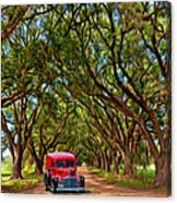 Louisiana Dream Drive  Canvas Print