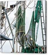 Louisiana Shrimp Boat Nets Canvas Print