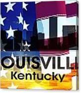 Louisville Ky Patriotic Large Cityscape Canvas Print