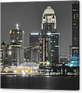 Louisville Lights Up Canvas Print