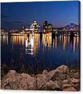 Louisville Rocks At Night Canvas Print