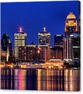 Louisville Skyline At Dusk Canvas Print