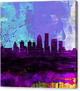 Louisville Watercolor Skyline Canvas Print