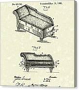 Lounge 1890 Patent Art Canvas Print