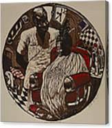 Lou's Barbershop Canvas Print