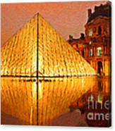 Louvre Illuminated Canvas Print