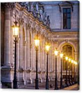 Louvre Lampposts Canvas Print