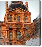 Louvre And Pei Canvas Print