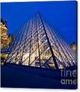 Louvre Pyramid At Dusk Canvas Print
