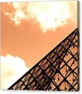 Louvre Pyramid Top Edited Canvas Print