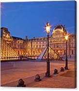 Louvre Twilight Canvas Print