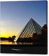 Louvre's Last Light Canvas Print
