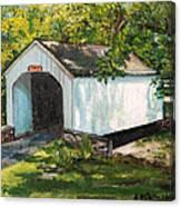 Loux Covered Bridge Bucks County Pa Canvas Print