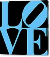 Love 20130707 Blue Black Canvas Print