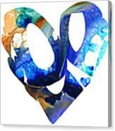 Love 4 - Heart Hearts Romantic Art Canvas Print