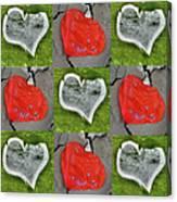 Love 9 Squared Canvas Print