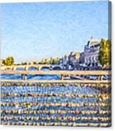 Love Across The Seine Canvas Print