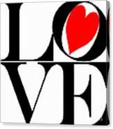 Love All Around Canvas Print